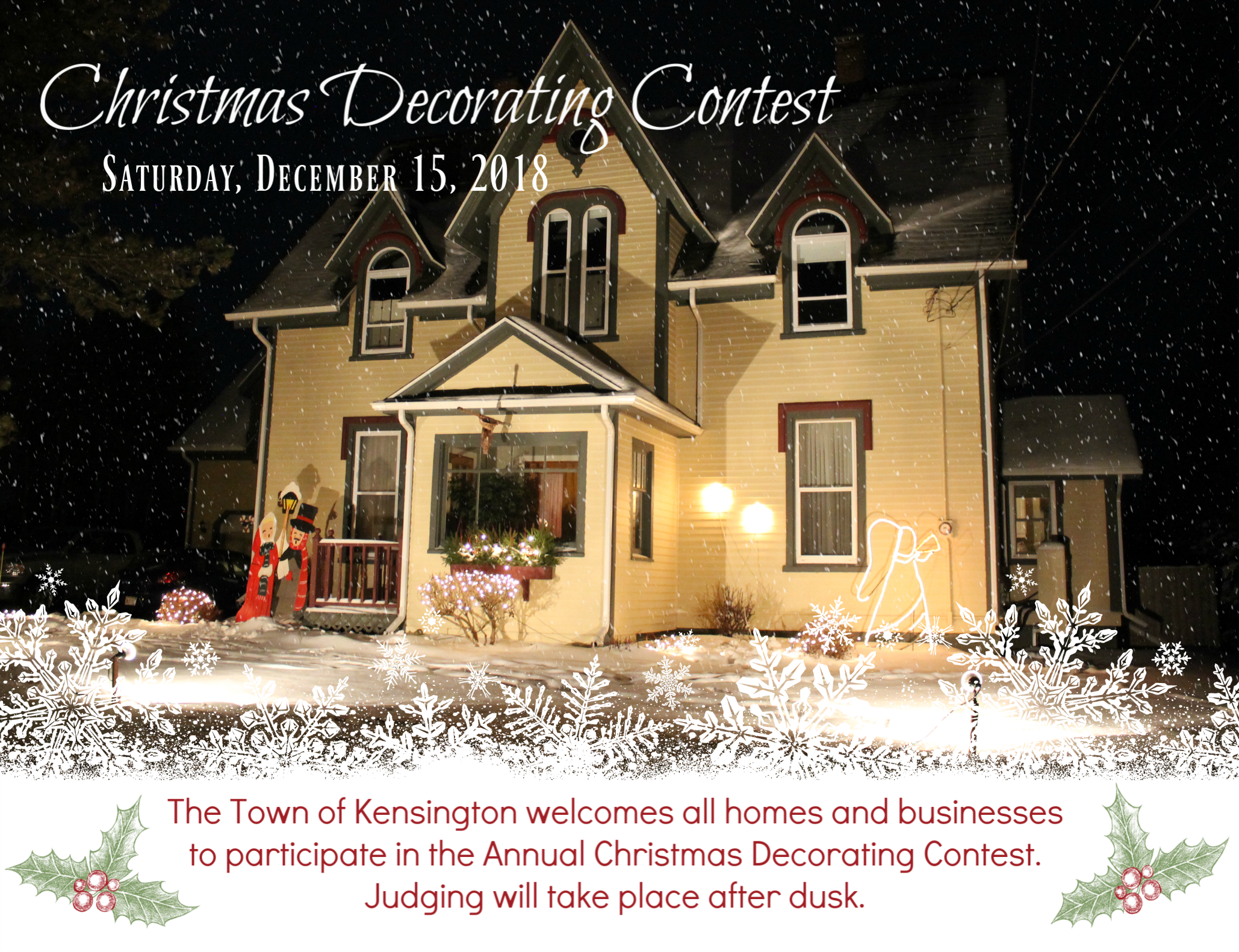 Annual Christmas Decorating Contest Town Of Kensington