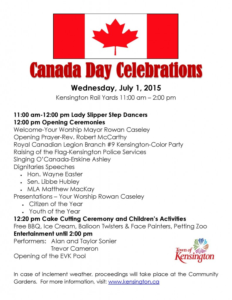 Canada Day poster2015
