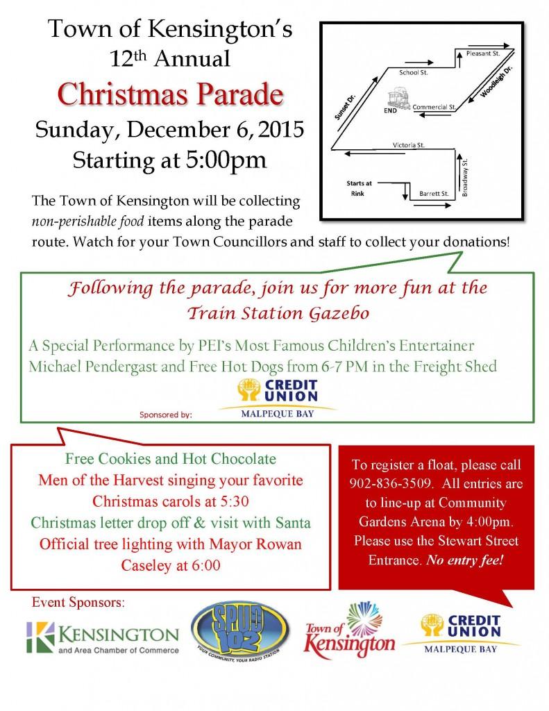 Christmas Parade Poster 2015