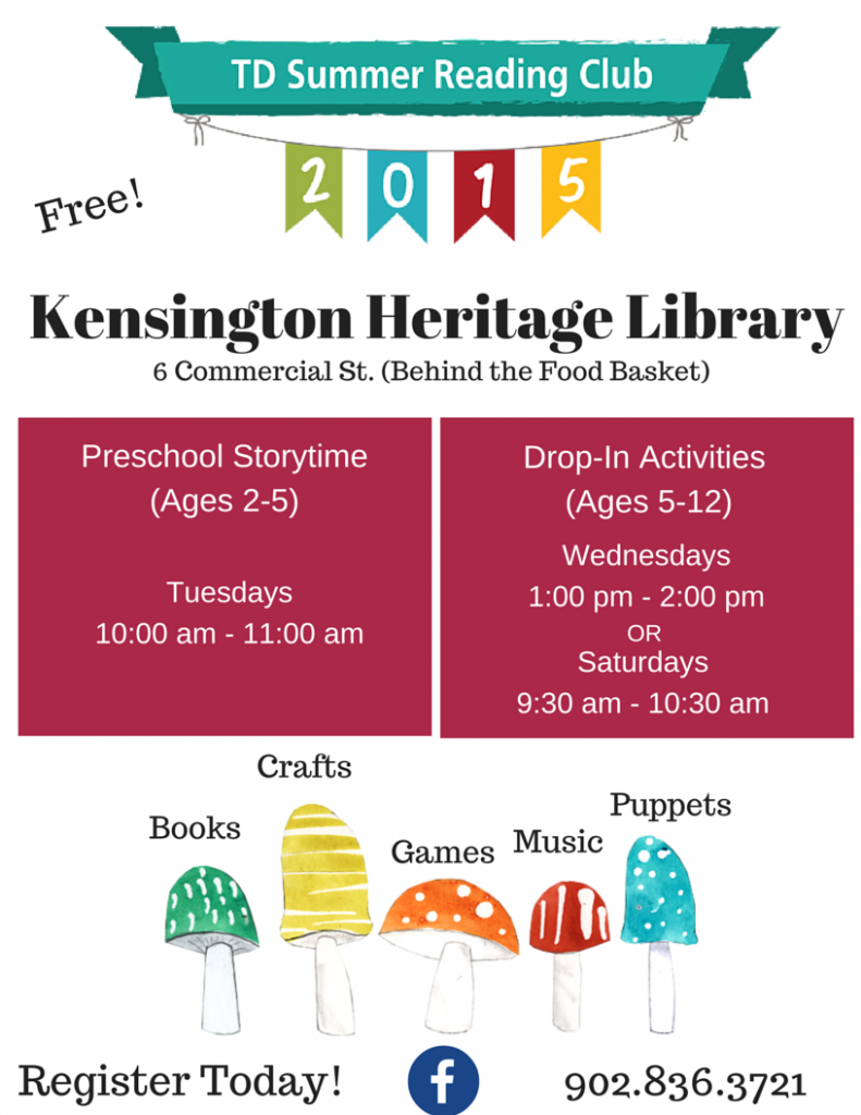 Kensington Heritage Library TD Summer Reading Club Poster (1)