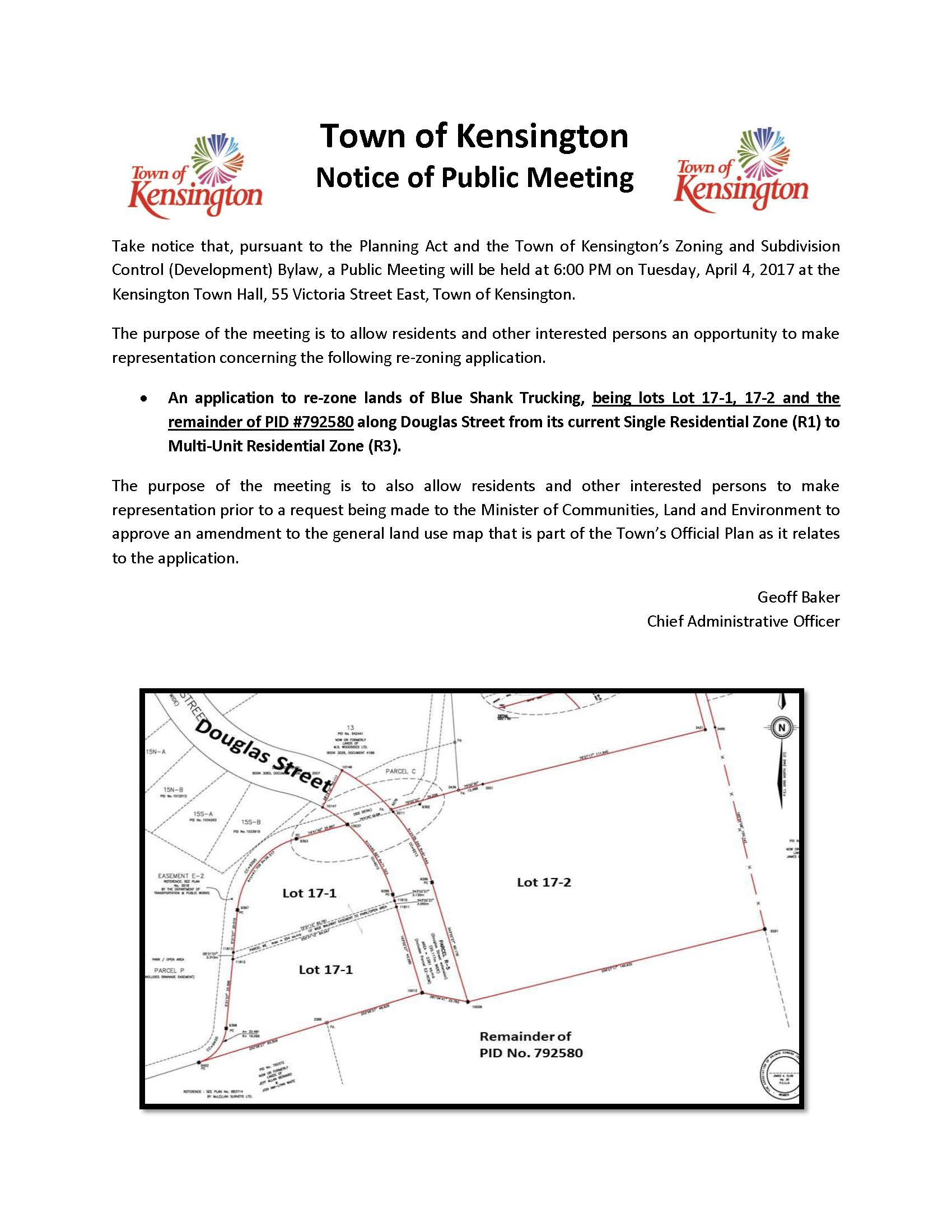 Public Meeting - BST Rezoning Ad