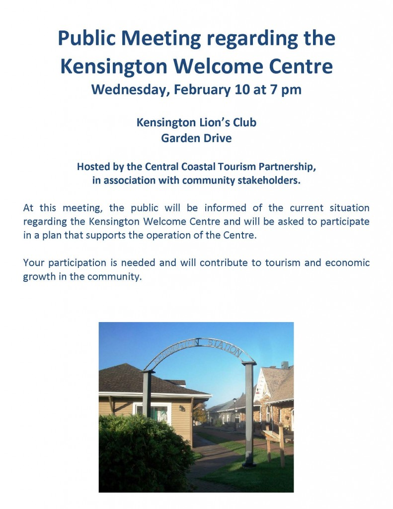 Public Meeting regarding the Kensington Welcome Centre (Feb.10 2016)